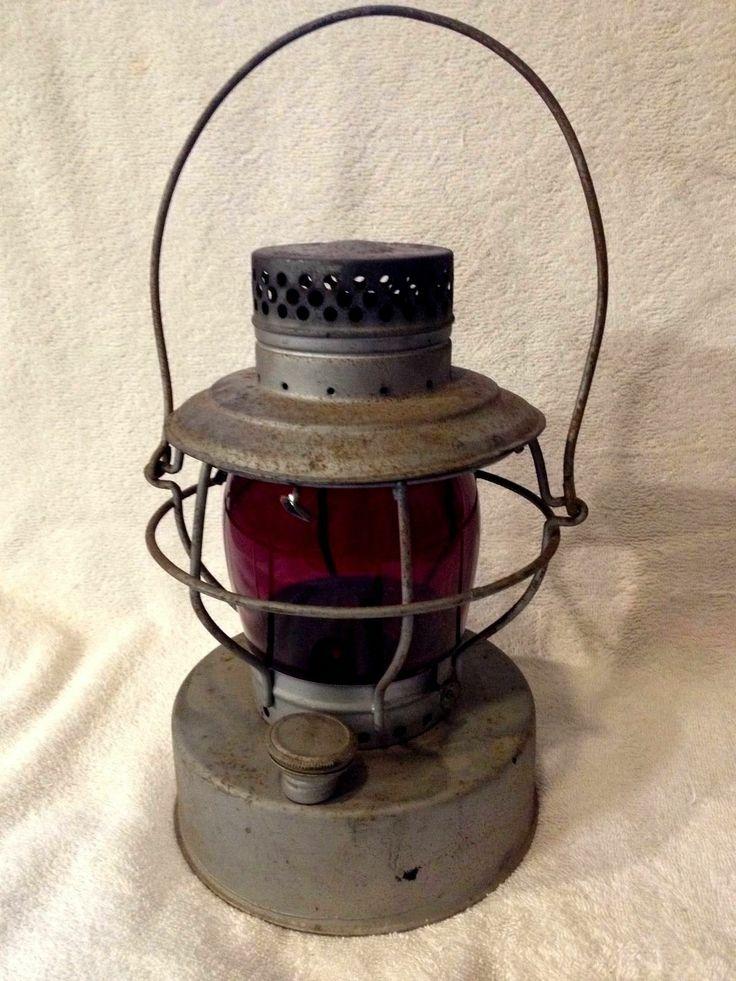Handlan St. Louis Railroad Lantern Red Globe | Lanterns ...