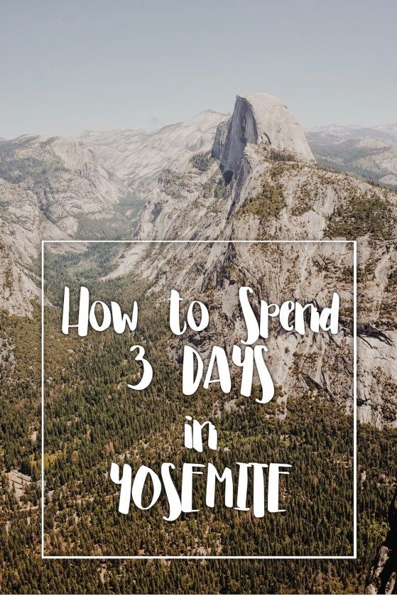 How to spend 3 days Yosemite National Park - a full itinerary for a weekend full of amazing scenery, complete with various trail guides and drive suggestions. I'm definitely following this advice next time I head to Yosemite!