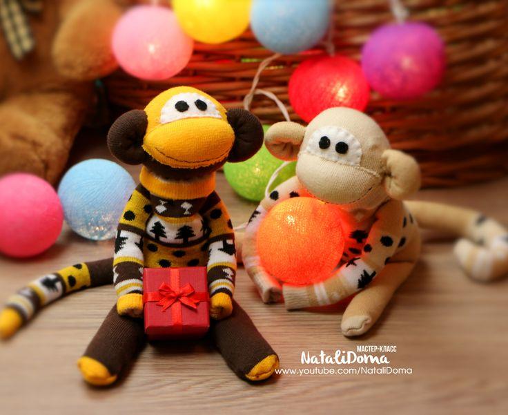 Как сделать Обезьянку своими руками / DIY Monkey of Socks  Мастер-класс: Новогодняя Обезьяна своими руками https://youtu.be/flWRoEpz-7Q