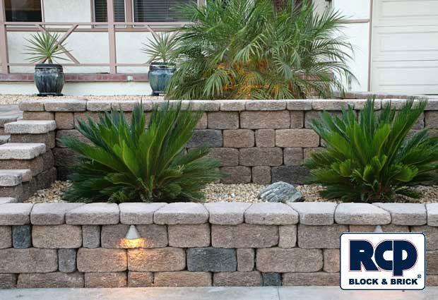 Front yard planter designs raised planter retaining wall for Yard planter ideas