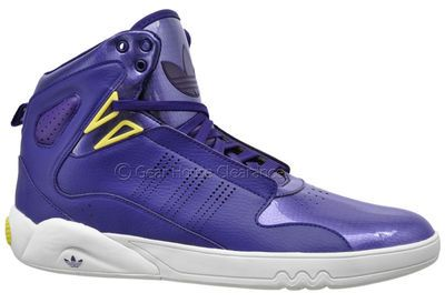 Adidas Originals Roundhouse Mid 2.0 Mens High Top Shoes, Purple / White, NEW