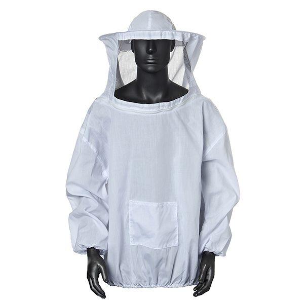 Traje de Apicultura Velo de Chaqueta y Vestido de Sombrero de Abeja de Capa Protección Equipada