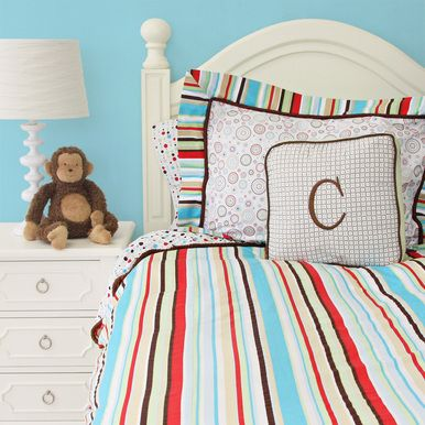 Make a splash of color! #SocialCircus @Caden Lane: Kids Beds, Full Duvet, Caden Lane, Baby Beds, Red Full, Neutral Rooms, Classic Red, Beds Sets, Big Boys Rooms