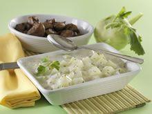 koolrabi met witte saus