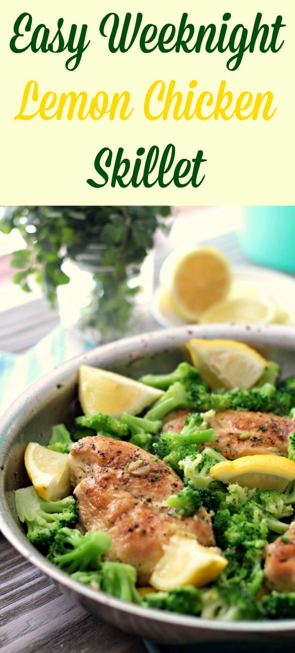 Easy Lemon Chicken Skillet with Broccoli #justeatrealfood #primallyinspired