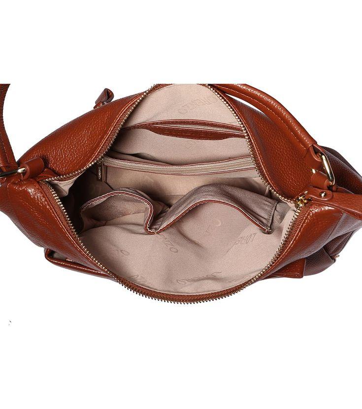 FashionSupreme - Geantă în nuanță camel Adele din piele - Accesorii - Genţi - Lorenzo Paris - genţi din piele naturală. Haine şi accesorii de marcă. Haine de designer.