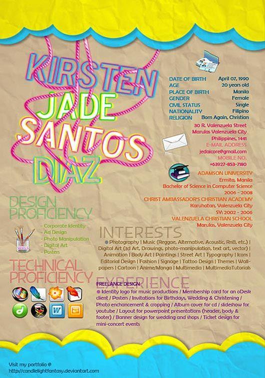 81 best Graphic Design Creative Resume images on Pinterest - graphic artist resume