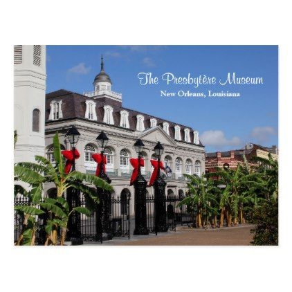#The Presbytère Museum New Orleans Louisiana Postcard - #Xmascards #ChristmasEve Christmas Eve #Christmas #merry #xmas #family #holy #kids #gifts #holidays #Santa #cards