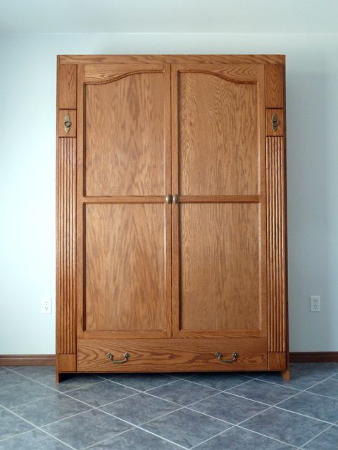 Armoire style murphy bed ww furniture pinterest for Murphy garage doors