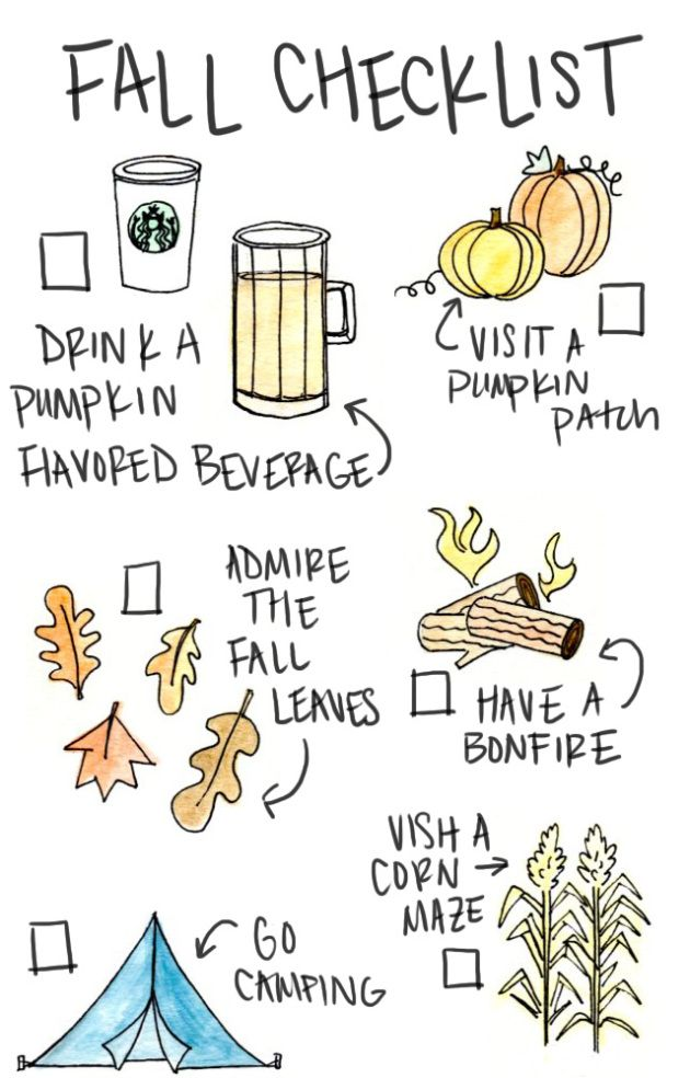 print out your fall checklist and get started checking things off right away azulhome - Cute Things To Print Out