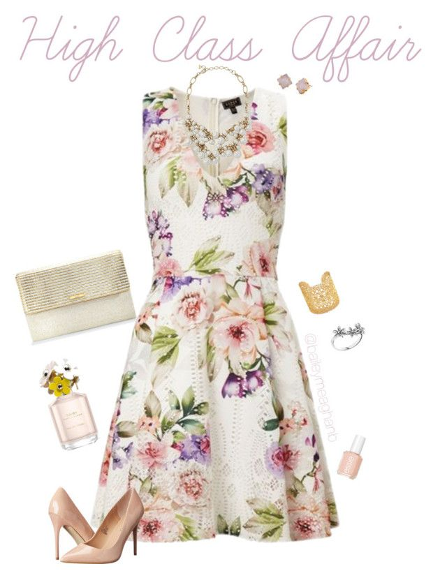 """""""Essie Inspired: High Class Affair"""" by baileymeaghanb on Polyvore featuring Stella & Dot, Lipsy, Madden Girl, Essie, Marc Jacobs and Pandora"""
