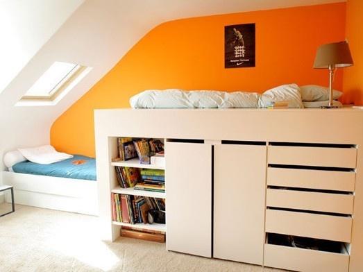 Lit Combine Coloris Chene Baltimore : Id� es sur le thème rangement en dessous du lit
