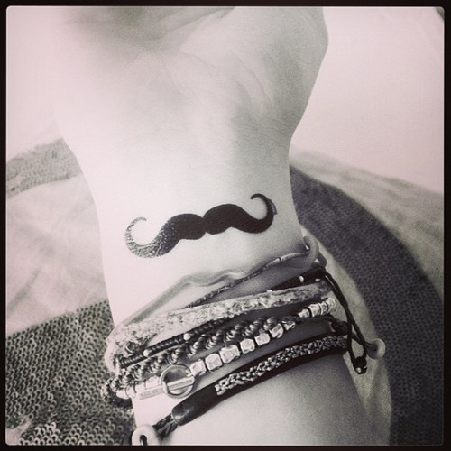 moustache tattoo