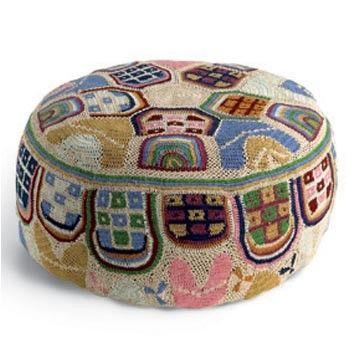 Crochet pouf by Missoni Home