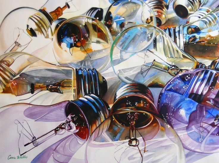 water color Light bulbs
