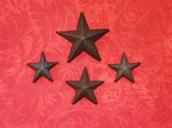 Rustic Refrigerator Magnets Stars Magnet Set by sweetrenderings, $12.00