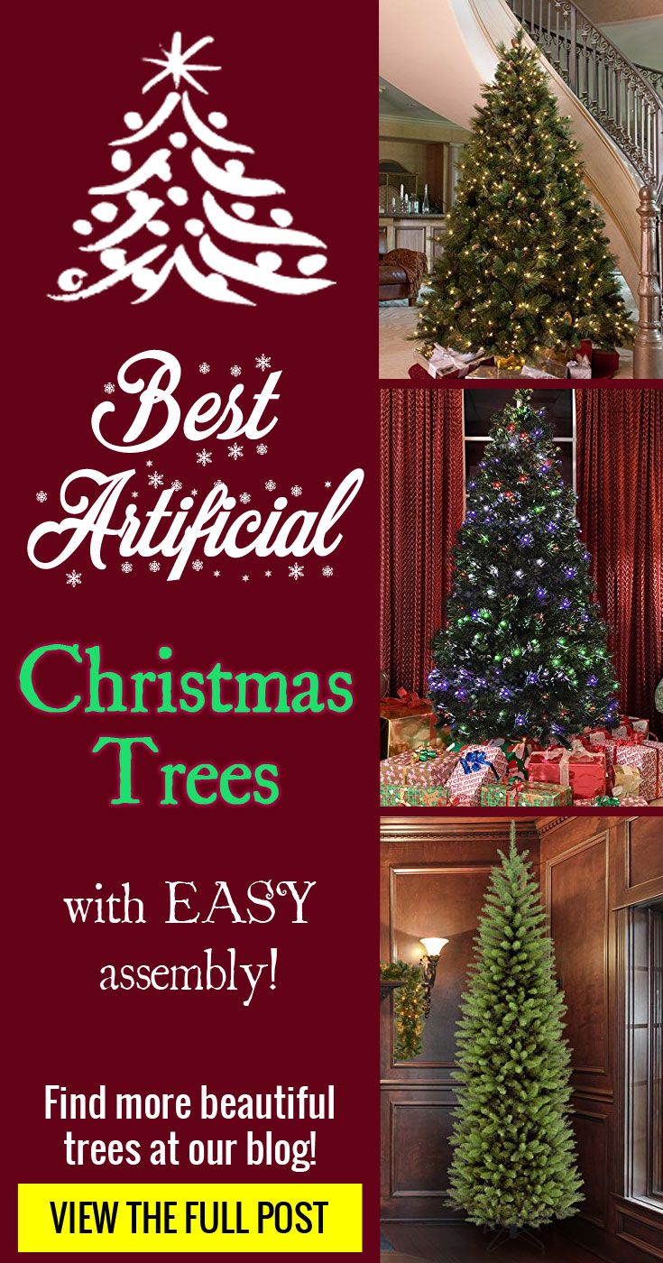 Easy To Set Up And Assemble Artificial Christmas Trees That Look Amazingly Realistic Too Fake Christmas Trees Christmas Tree Simple Christmas Tree