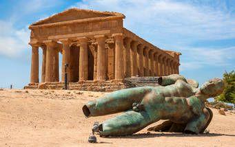 Concordia Tempel im Tal der Tempel bei Agrigento
