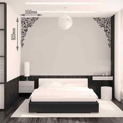 Deux-conceptions-baroque-dangle-Autocollant-Mural-en-Vinyle-Autocollant-Mural-Chambre