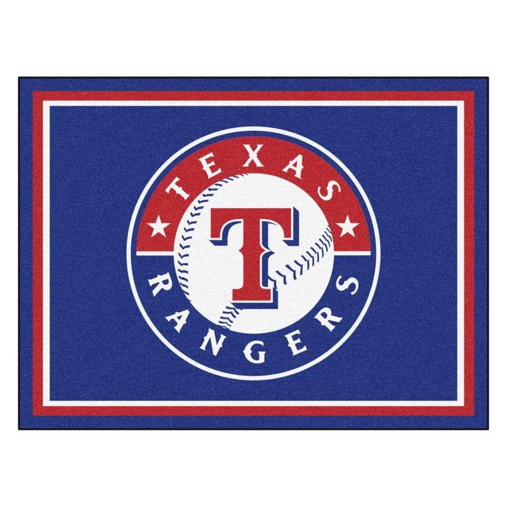 MLB Texas Rangers Navy Blue 8 ft. x 10 ft. Indoor Area Rug