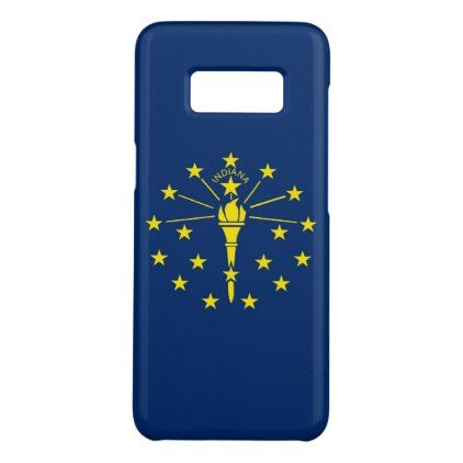 Samsung Galaxy S8 Case with Indiana Flag - stylish gifts unique cool diy customize