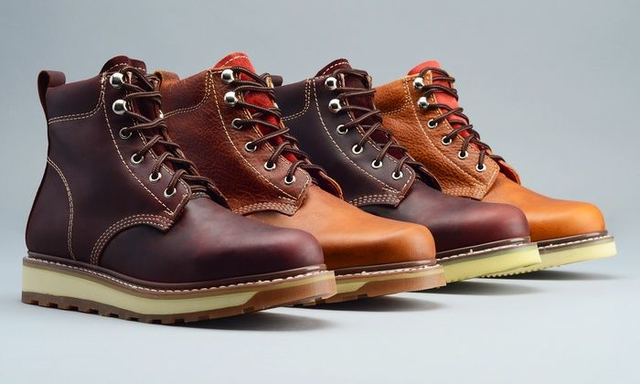 Goodyear Welted Men's Classic Genuine Leather Work Boots: Goodyear Welted Men's Classic Genuine Leather Work Boots