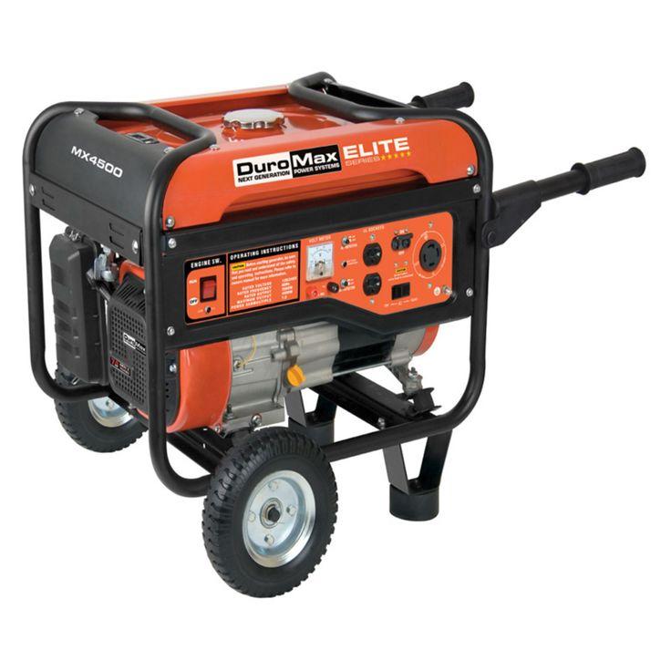 DuroMax Elite Series 4500 Watt 7.0 Hp Gas Generator - MX4500