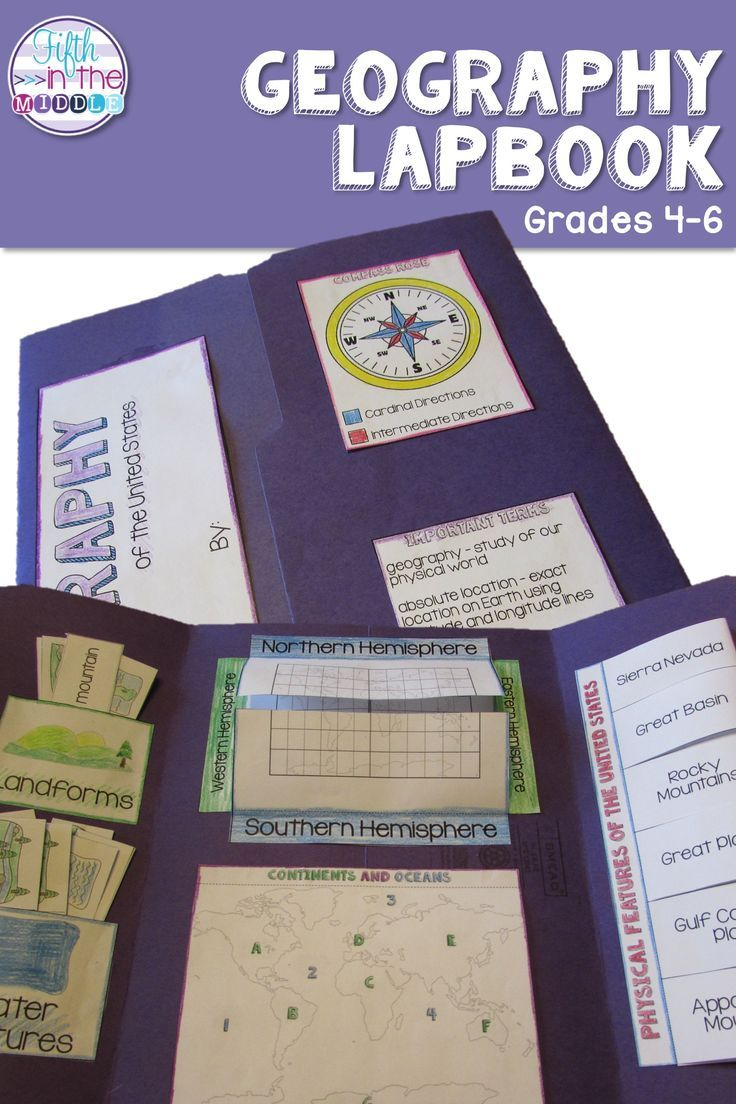 Geography Lapbook Interactive Notebook For Upper Elementary