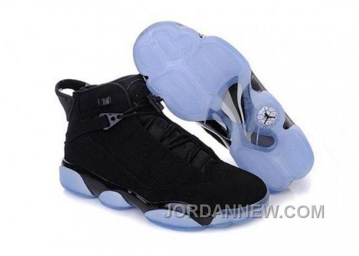 authentic retro jordan 6 rings black / blue for sale -