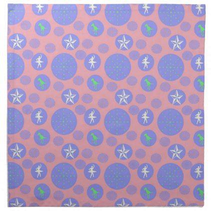 Pink Retro Dots Cloth Napkin Kitchen Gifts Vintage Custom Diy Cyo Personalize