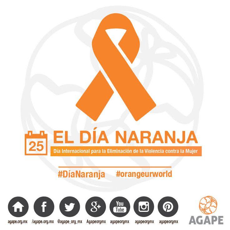EL DÍA NARANJA (Día Internacional para la Eliminación de la Violencia contra la Mujer) #HazConciencia #HumanTrafficking #AGAPE #InfografiaAGAPE #DíaNaranja #orangeurworld https://instagram.com/p/8DrYQXOWuF/