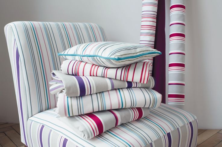 A fresh crisp coloured stripe fabric from the Camengo 'Attitude' collection.  Available exclusively in Australia from The Textile Company
