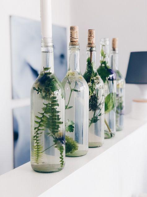 Einfache Blumendeko In Glasflaschen Diy Und Gedanken Zur