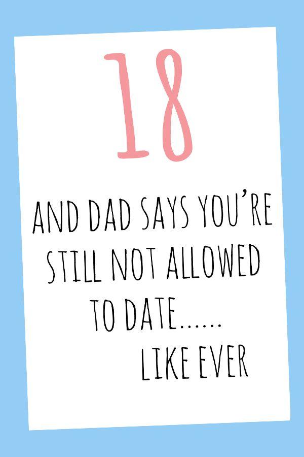 18th Birthday Card Digital Printable Card 18th Birthday Cards 18th Birthday Quotes Funny Birthday Cards
