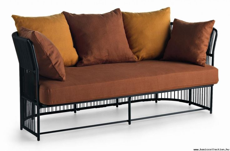 Basic Collection, Tibidabo sofa #sofa #design #furniture #tibidabo #pillow #metal #black