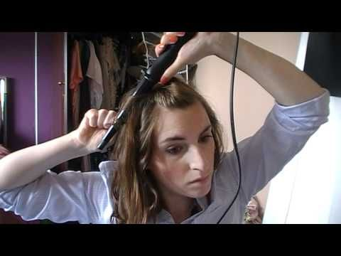 How to curl short hair using Remmington pearl wand :)