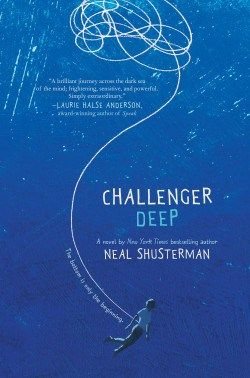 Challenger Deep. This book was very beautiful and very strange and very frightening all at once, gave me nightmares and left me in tears, but it was so stunning I could not stop reading.
