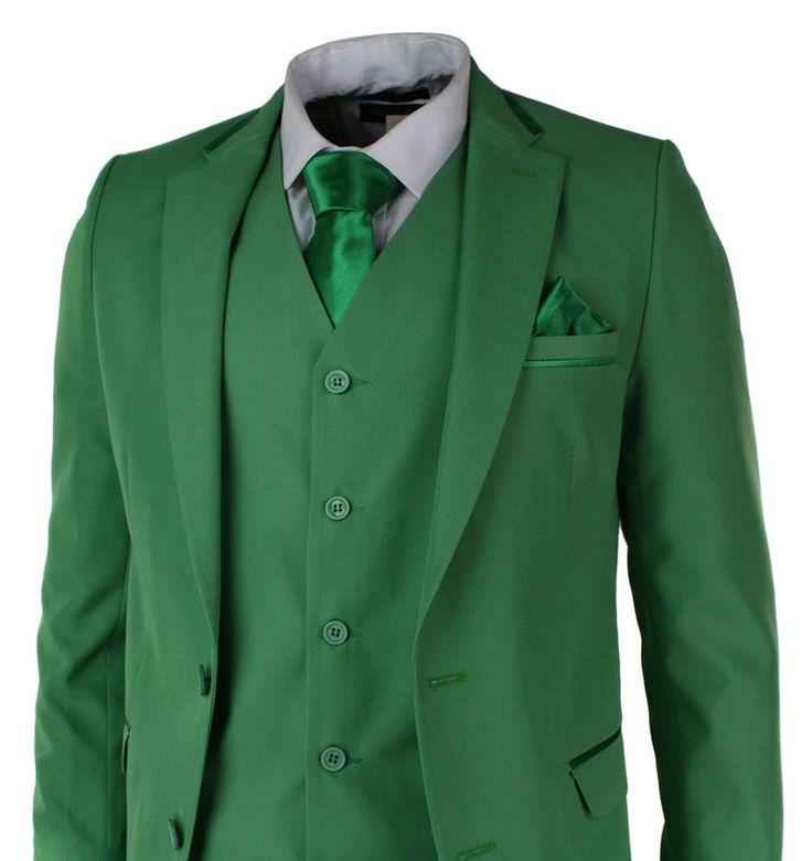 2016 New Green Best Men Suit Notch Lapel Groomsman Men Wedding Bridegroom Suits+  | eBay