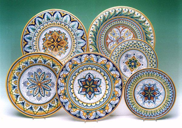 ?majolica Wall plates in geometric designs from Derma.  sc 1 st  Pinterest & 79 best Decorative Plate Sets images on Pinterest | Plate sets ...