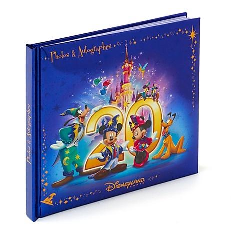 Carnet d'autographes Disneyland Paris 20 ans - Disney Store
