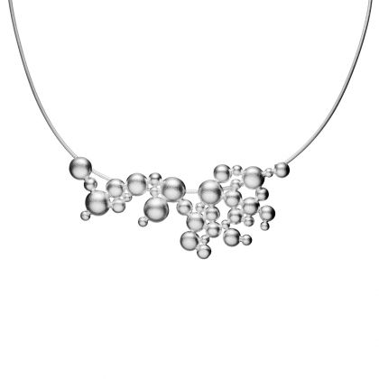 WINTER PEARL Silver Necklace / Design: Mari Isopahkala / Necklaces / Jewelry/ Lapponia Jewelry / Handmade in Helsinki