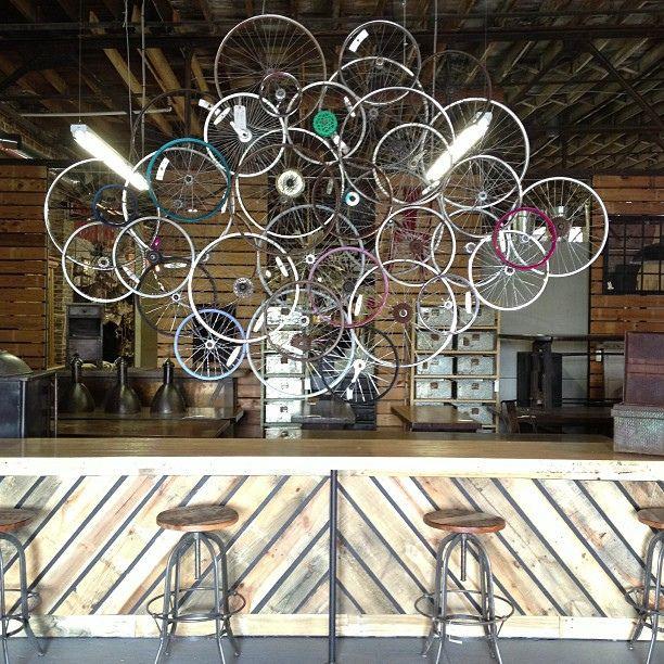 $595 Bicycle rim sculpture