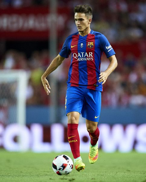 Denis Suarez of FC Barcelona in action during the match between Sevilla FC vs…