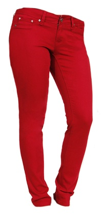 Color Coded Red Skinny - $39