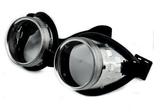 Plain Vintage Aluminum Welder Goggles Cosplay Anime Steam Punk Glasses