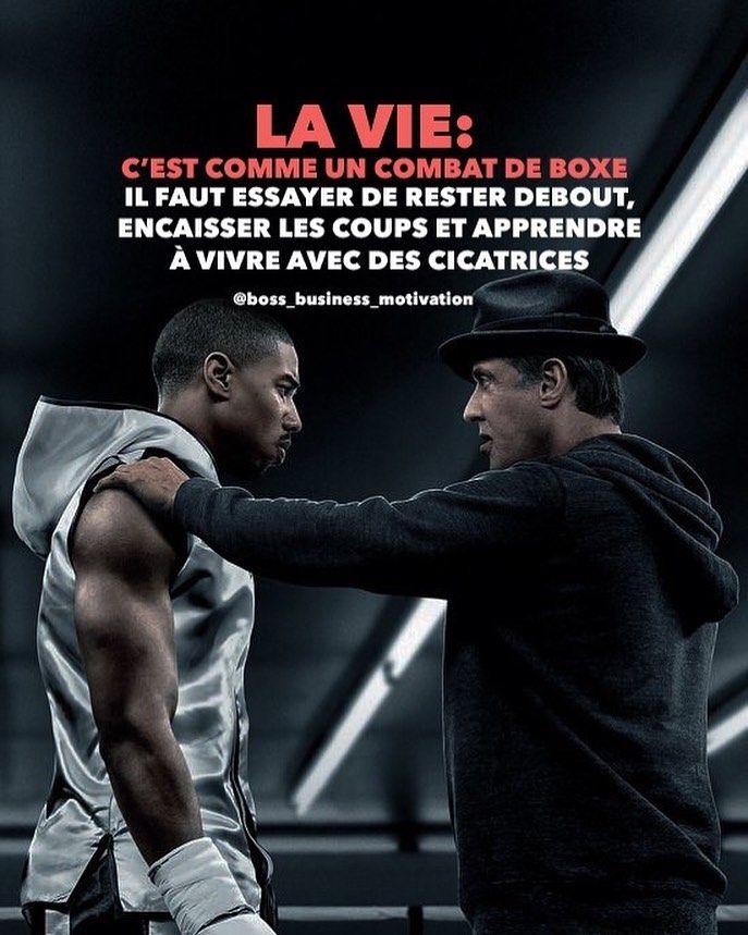 La Vie Est Un Combat : combat, COMBAT, ❗️, Double, Tape❤️, Personne, Abonne-toi, Mot…, Citation, Boxe,, Motivation,, Objectif