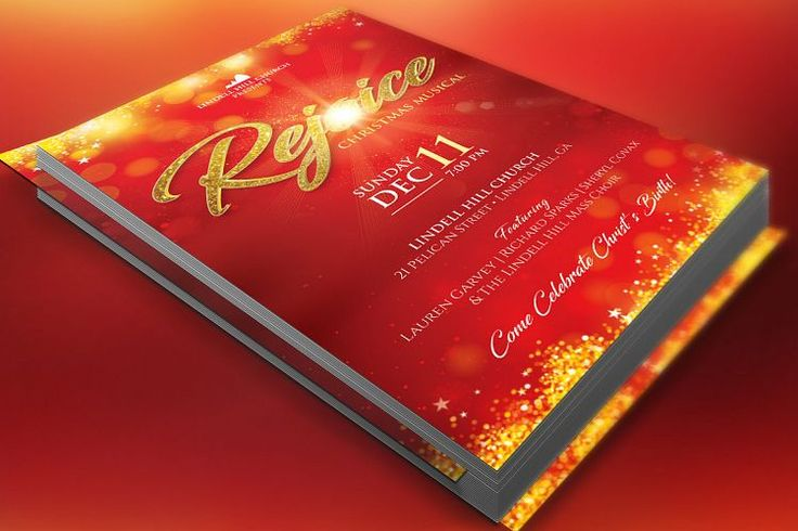 Rejoice Christmas Flyer Poster Template example