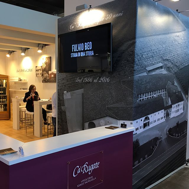Ca 'Rugate turns 30 and celebrates its goal with great success at the Vinitaly Fair.