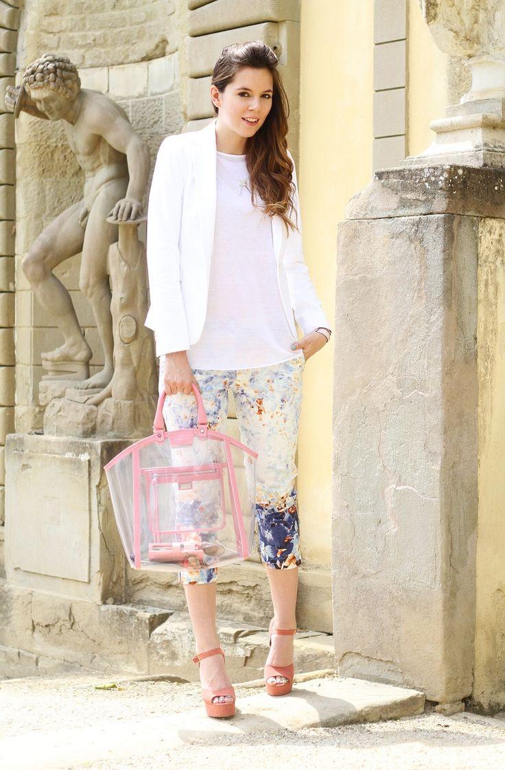pantaloni primark ; shopping Coccinelle trasparente e bordata; scarpe di Steve Madden