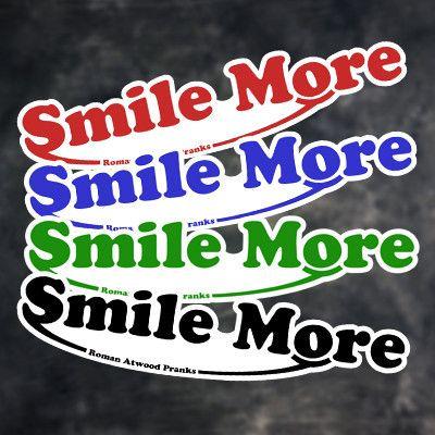smile more stickers in 2018 smile more pinterest smile roman